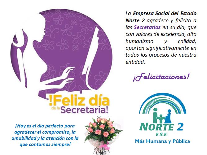 Feliz Día de la Secretaria - ESE Norte 2