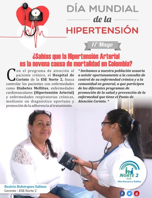 17 de Mayo: Día Mundial de la Hipertensión Arterial - ESE Norte 2