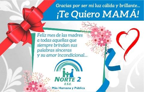 Tarjeta - Feliz Mes de las Madres - ESE Norte 2