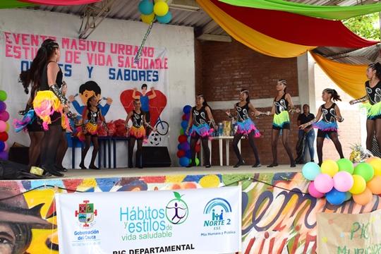 Evento Masivo Urbano – Estilos de Vida Saludables - 'Olores y Sabores' se realizó en Corinto