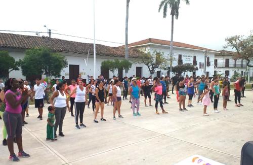 Se realizó con éxito Maratón de Aeróbicos en Caloto