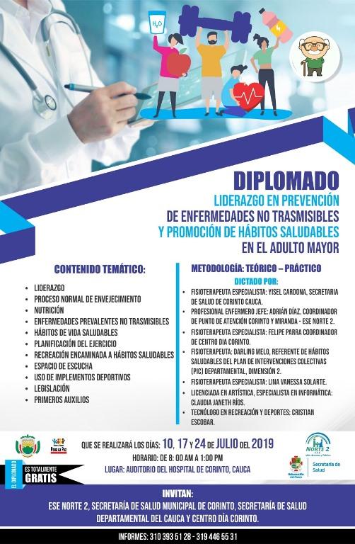 Diplomado: Liderazgo en Prevención de Enfermedades no Transmisibles y Promoción de Hábitos Saludables en elAdulto Mayor