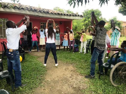 En Guachené, realizan actividad física para prevenir enfermedades