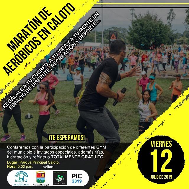 Maratón de aeróbicos en Caloto