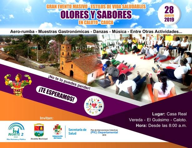 Gran Evento Masivo 'Olores y Sabores' en Caloto