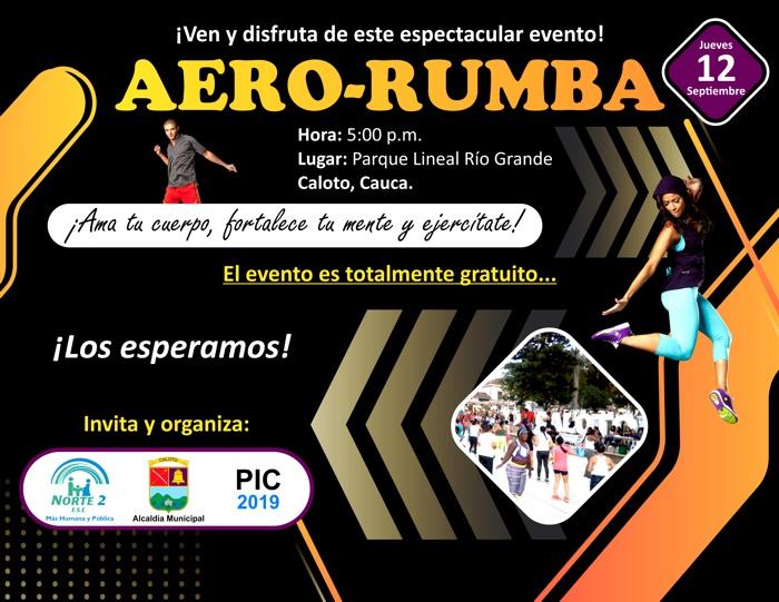 No se pierdan la Aero-rumba el próximo jueves en Caloto