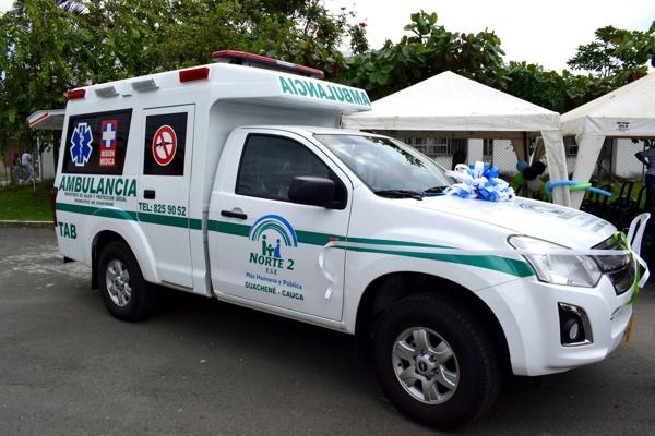 Con la bendición de Dios, Guachené estrena ambulancia