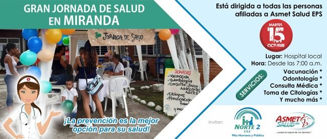 Gran Jornada de Salud en Miranda, Cauca - ESE Norte 2