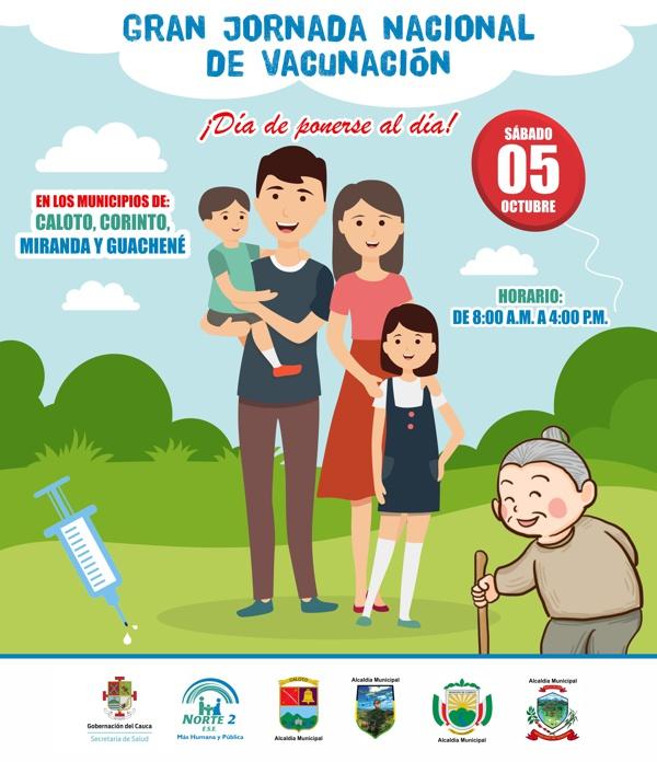 """Gran Jornada Nacional de Vacunación """"Día de ponerse al día"""", este 5 de octubre - ESE Norte 2"""