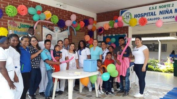 Con excelente cobertura se realizó la Jornada Nacional de Vacunación en el norte del Cauca