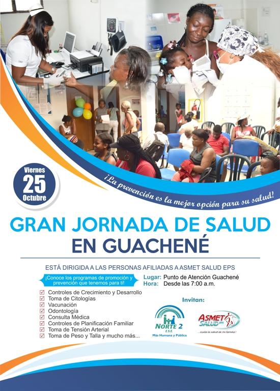 Gran Jornada de Salud este viernes 25 de octubre de 2019, en Guachené