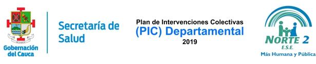 Secretaría de Salud Departamental del Cauca - Plan de Intervenciones Colectivas - PIC - ESE Norte 2