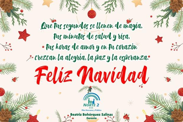 Feliz Navidad - Beatriz Bohórquez Salinas - Gerente ESE Norte 2