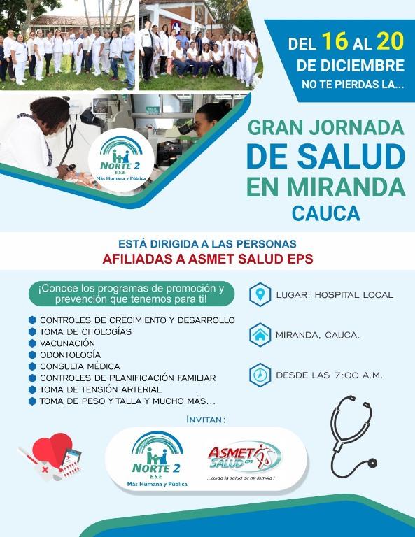 Gran Jornada de Salud en Miranda, Cauca