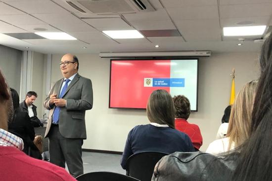 Luis Fernando Correa, jefe de la Oficina de Emergencias y Desastres del Ministerio de Salud y Protección Social