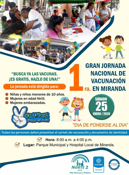 1era. Jornada Nacional de Vacunación del 2020 en Miranda