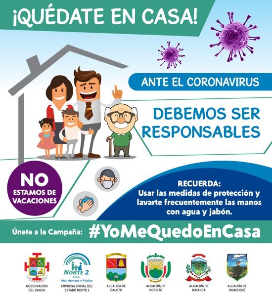 Campaña Quédate en Casa frente al Coronavirus - ESE Norte 2