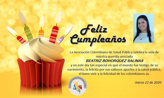 Feliz Cumpleaños a nuestra gerente: Beatriz Bohórquez Salinas