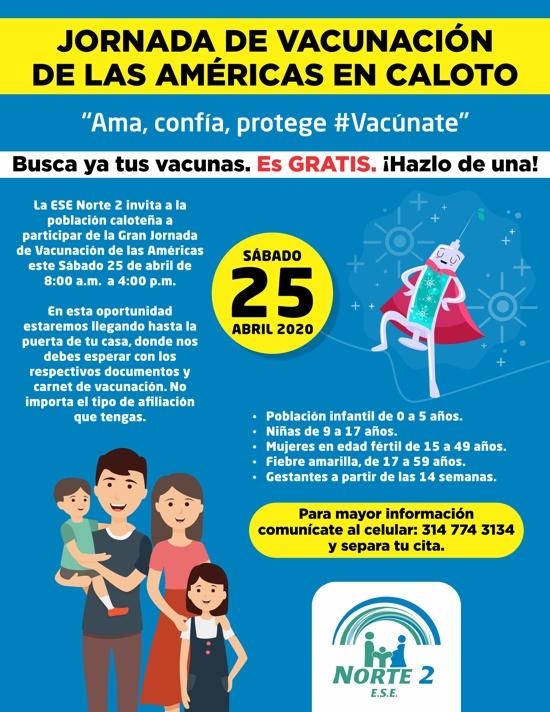 JORNADA DE VACUNACIÓN DE LAS AMÉRICAS EN CALOTO - ESE NORTE 2
