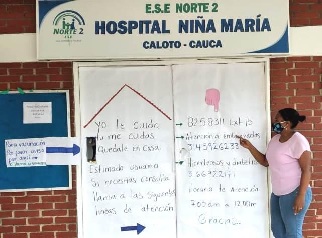 Líneas de atención en el hospital de Caloto - ESE Norte 2